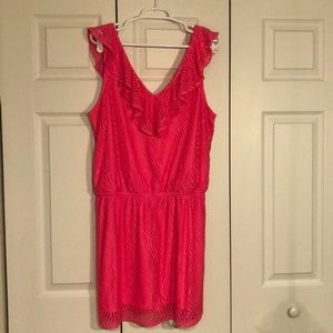 Lilly Pulitzer Hot Pink Lace Romper